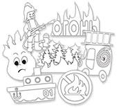 Раскраски по пожарной безопасности для детей