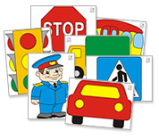 Цветные картинки по правилам дорожного движения