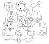 Раскраски по ПДД для детей