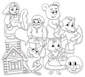 Фигуры раскраски Сказочные герои