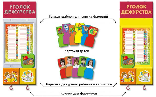 Уголка дежурства в детском саду