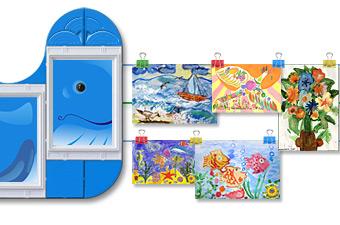 Выставка детских рисунков в детском саду