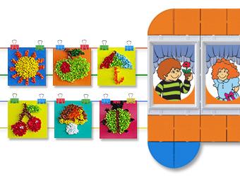 Оформление галереи детских поделок