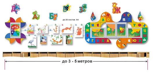 Стенды для обучения детей алфавиту
