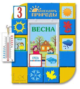 Стенд Календарь природы для детских садов