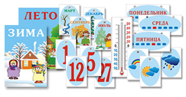 Карточки Календарь природы для детей