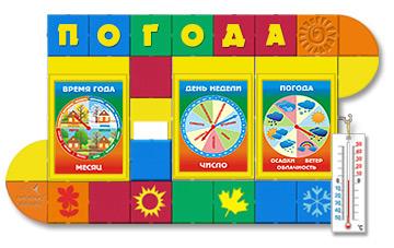 Яркий стенд Календарь природы для детей