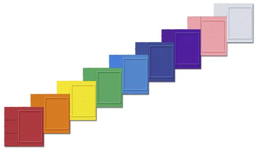 Стенд Лесенка от Националь. Цветовая гамма