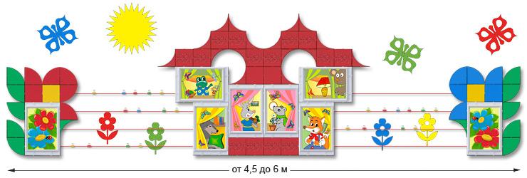 Стенд для групповой комнаты и Галерея для рисунков