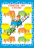 Список детей на столы для детского сада