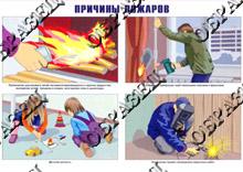 Плакат Умей действовать при пожаре