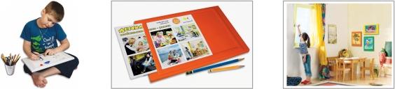 Детская мобильная доска-рамка А4 для рисования