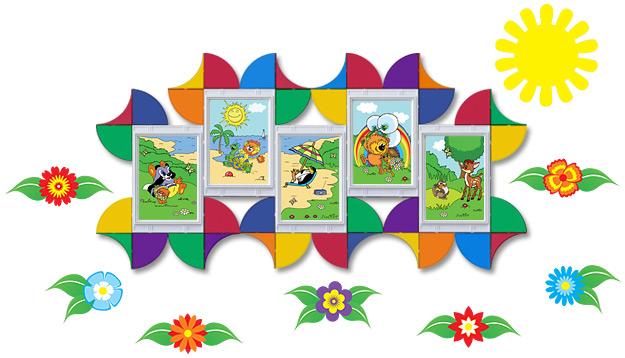 Декор стен детского сада наклейками