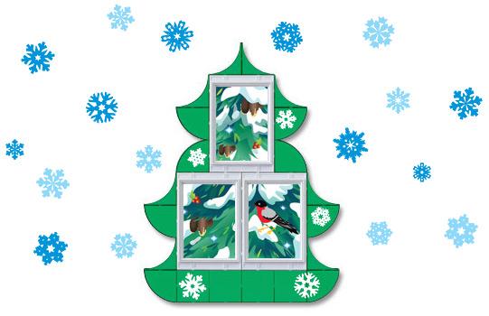 Новогоднее оформление окна своими руками
