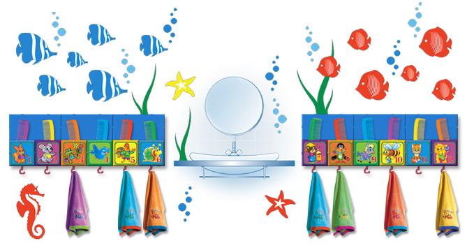 Оформление умывальной комнаты в детском саду
