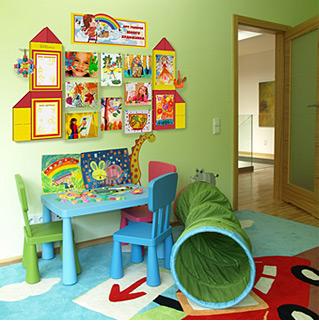 Оформления домашнего уголка творчества в комнате ребенка