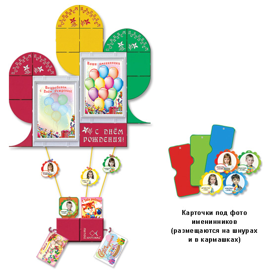 Оформление стенда с днём рождения в детском саду своими руками 11