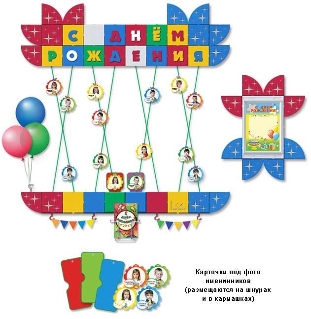 Оформление стенда с днём рождения в детском саду своими руками 94
